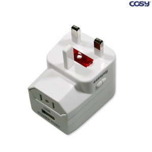 여행용 멀티플러그 USB1포트아답터 전세계가능 TA759U
