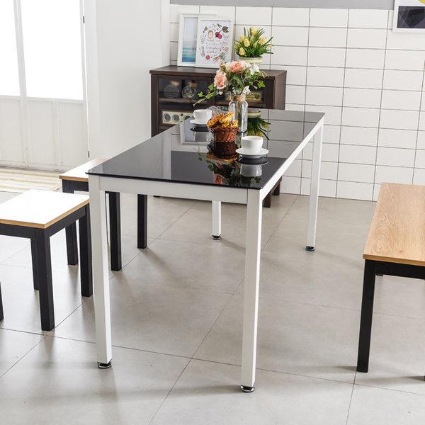다용도테이블 2인용책상 학원 회의용 철제 강화유리