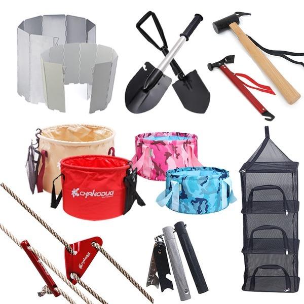 캠핑용품 모음전/식기건조망/설거지통/버너바람막이