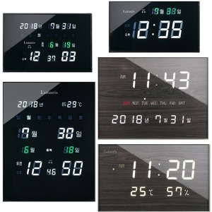 국산 루나리스 GPS 디지털 전파 LED 전자벽시계