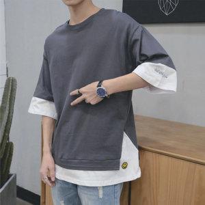 남성 반팔티 티셔츠 남자 반팔 티 여름 의류 옷