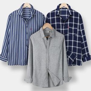 A남성셔츠/남자7부남방/스트라이프셔츠/헨리넥셔츠