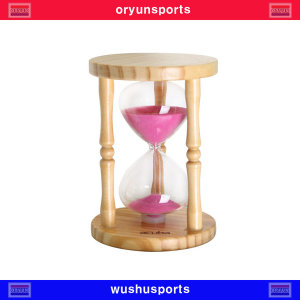 아쿠바 원목 모래시계(탁상용) 5분 체육 헬스 시계