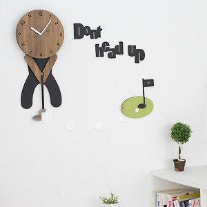 무소음 디자인 벽시계 art-023  골프