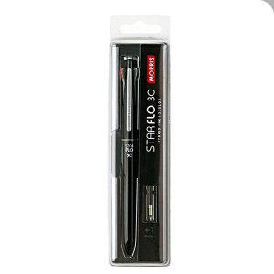 모리스 스타플로 3색 멀티볼펜 0.7mm 제트블랙