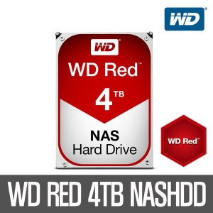 +WD공식인증점+ WD RED 4TB WD40EFRX AS3년