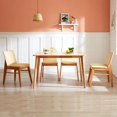 [아씨방] 아씨방가구 빈센트 4인용 원목식탁(의자4개)