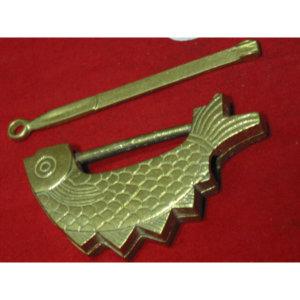 반닫이 붕어 보석함 경대 놋 자물쇠 1개--n모듬(열쇠)