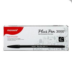 모나미 플러스펜 3000 흑색 1타 세트 수성펜