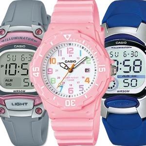카시오 어린이아동초등학생방수 남자여자전자손목시계