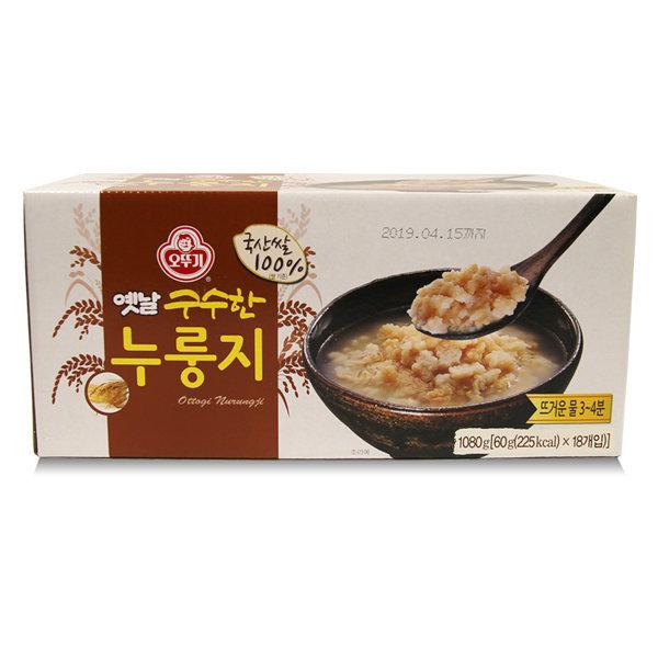 무배 오뚜기 옛날 구수한 누룽지 60gx18개 (국산쌀)