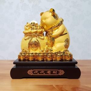 황금 돼지 저금통 복주머니 (중) 개업 집들이 선물