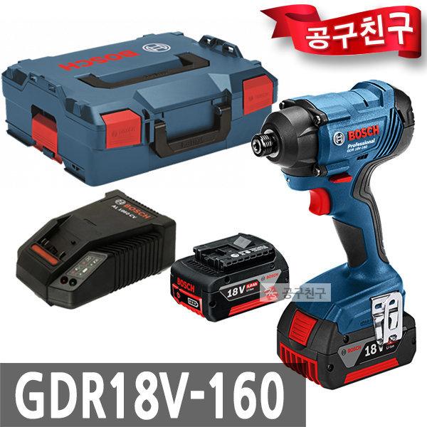 보쉬 GDR18V-160 충전 임팩트 드릴드라이버 18V 5.0Ah