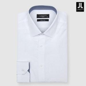 (신세계경기점)화이트 모달 솔리드 슬림핏 긴소매셔츠 LZRP504WH