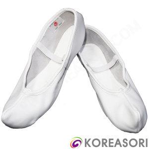 흰색 코있는 흰색 소가죽 굽없는 한국무용슈즈 코슈즈