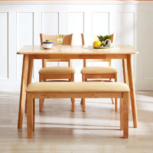 (현대Hmall)아씨방가구 캔트 4인용 원목식탁(의자2개+벤치)