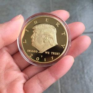 미국 대통령 트럼프 금 Gold plate 도금 기념 동전