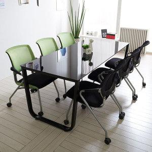 스틸뷰 테이블 회의실 사무용 미팅 책상 철제테이블