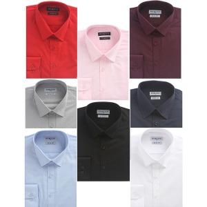 남자 긴팔 슬림핏 와이셔츠 솔리드셔츠 긴팔티셔츠