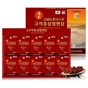 명절선물 금산고려인삼 명품고려 홍삼절편삼 20gx10갑