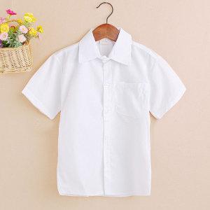 흰색 반팔 와이 셔츠 아동/남아/초등 어린이 흰색남방