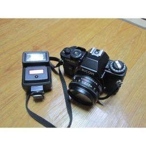 RICOH XR500AUTO 수동필름카메라 고장 ZENJA 플레쉬55