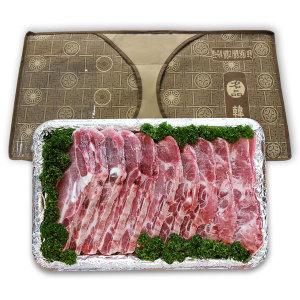 이수한우 LA식 돼지갈비선물세트 2kg 내외 냉동