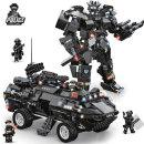 SWAT 장갑차 2단 변신 로봇 C0551 소블럭 대용량 블럭