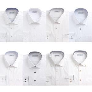 남자 긴팔 일반핏 와이셔츠 솔리드셔츠 화이트 흰색