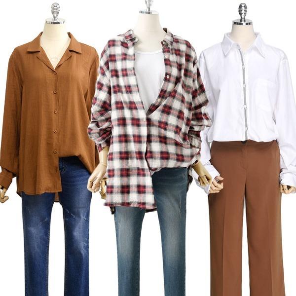 가을신상 롱 루즈핏 F~3XL 여성 빅사이즈 남방 셔츠