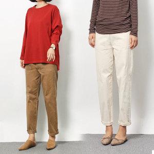 여성 면바지 스판 여자팬츠 55~88 밴딩 면바지 GS루키