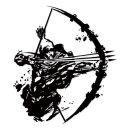 활쏘는남자 포인트 스티커
