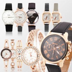 패션 손목시계 커플시계 가죽 전자 남자 여자 시계