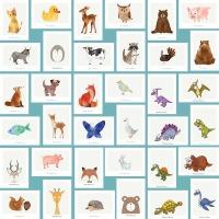 아기방 아이방 인테리어 북유럽 동물 포스터 그림