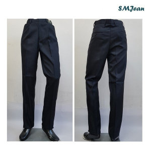 SMJ332s 정장바지 기본일자 원탁 네이비 중년남자 바지 중년남성 신사복 바지