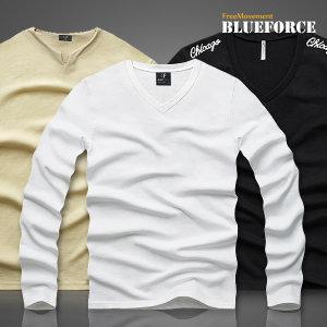봄신상 브이넥티/맨투맨티 남자옷 기모무지티셔츠