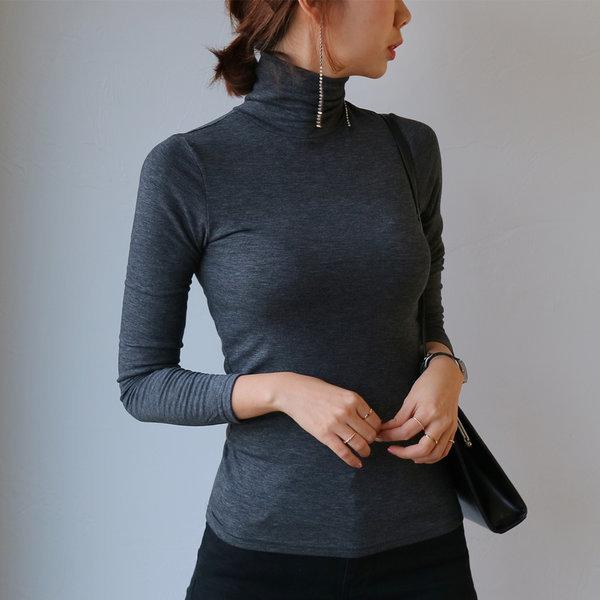 소프트텐셀 기모폴라티 여성 목폴라 목티 미시엄마옷