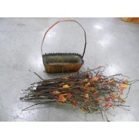 조화장식품과나무바구니(중고)