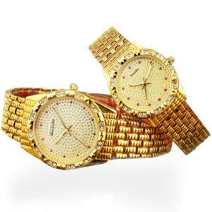 시계 미츠바 보석 시계 1+1 커플 손목시계 금장시계