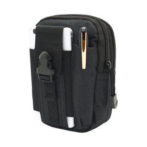 벨트 허리 파우치 등산 스마트폰 보조 가방 블랙