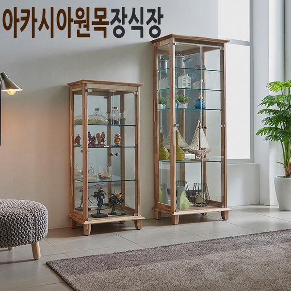 힐링 아카시아 원목 장식장 진열장 피규어 건담 레고