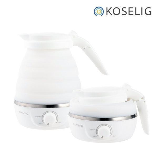코슬리 크럼플 화이트 휴대용/여행용 전기포트