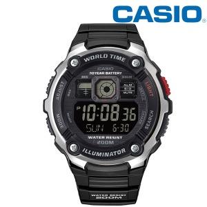 카시오 200M 방수 멀티타임 손목시계 AE-2000W-1B