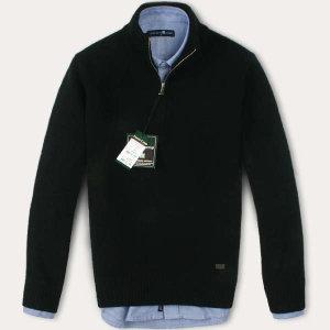 (현대Hmall) FOREST CAMP Lambswool Half-Zip Sweater/반집업 스웨터 FCSW6411-Black