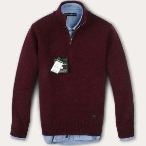 (현대Hmall) FOREST CAMP Lambswool Half-Zip Sweater/반집업 스웨터 FCSW6411-Burgundy