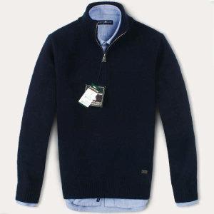 (현대Hmall) FOREST CAMP Lambswool Half-Zip Sweater/반집업 스웨터 FCSW6411-Navy