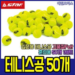 스타 테니스공/50개/스타클럽/연습용/훈련용/테니스공