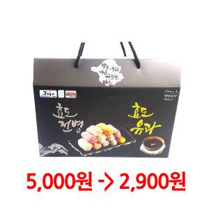 특가 2900원 달지않은 찹쌀유과 260g 선물세트 한과