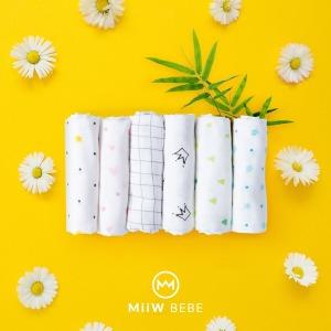 미우베베 뱀부 핸키 대나무 손수건 스카프빕 세트