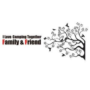 캠핑 스티커 나무와새 카라반 꾸미기
